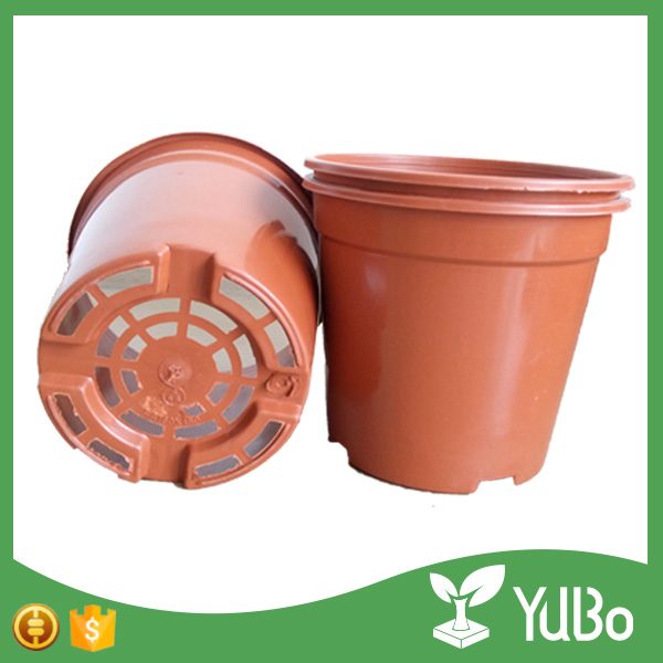 16.8cm Edge Curl Round Plastic Flower Planter Pot Liners, Round Planter Bottoms