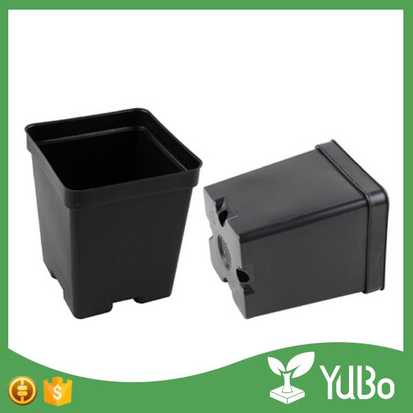 Black Square Plant Flower Pots,Cactus Containers For Gardening Manufacturer