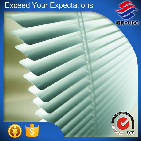 0.18*50mm Wood Grain Aluminum Blinds Slat, horizontal window custom blinds