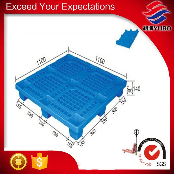 1100*1100mm Vented Top Light Weight Low Cost Plastic Pallets manufacture