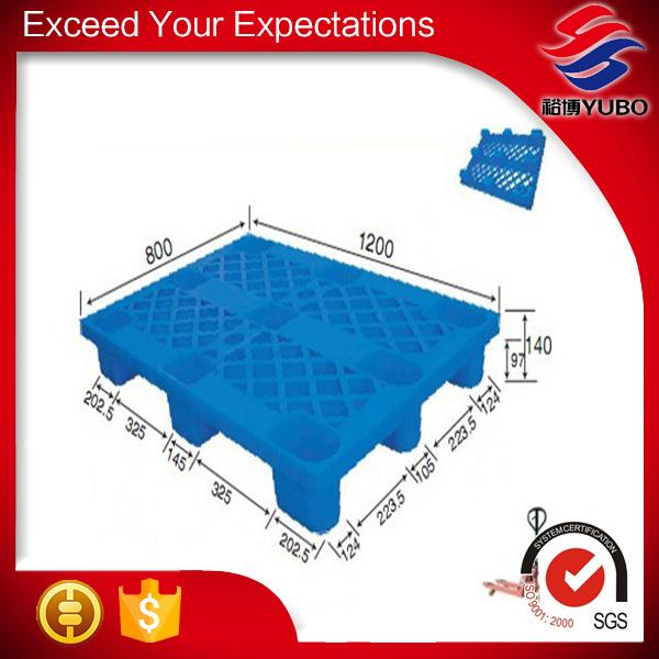1200*800mm Vented Top 9 Feet Light Weight Plastic Pallet manufacture