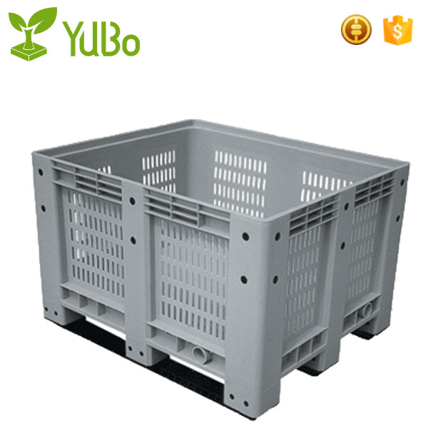 1200*1000mm Vented Euro Plastic Pallet Bin, large storage container, folding pallet box manufacture