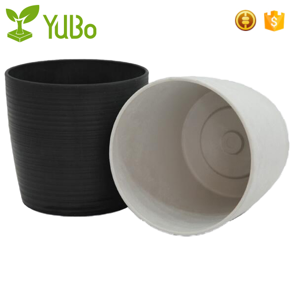 Garden Large Round Plastic Growing Pots For Outdoor Plants