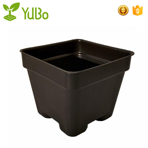 Rectangular Plastic Garden Tubs and Planters with pots, plastic garden pots factory