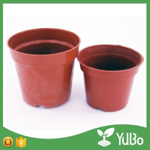 5-20.5cm Durable Plastic Flower Planter Containers, Flowers on pots