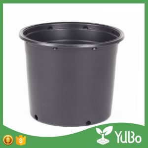 Black 5 Gallon Plastic Nursery Pot For Plants