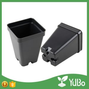 6.5*4.0*9.0cm Small Black Plastic Nursery Planter Pots, square flower pots factory