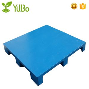 1200*1200 Flat Top 9 Feet Steel Tubes blue Plastic Pallets for transport food garde factory