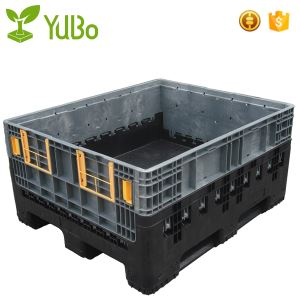 1200*1000*595mm Collapsible Plastic Pallet Container, collapsible bulk containers used shipping crates supplier