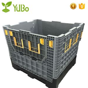 1140*980*1050mm Heavy Duty Collapsible Plastic Pallet Containers, HDPE plastic pallet box crate manufacture