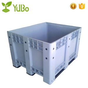 1200*1000mm Vented Bottom Plastic Fruit Bin, pallets container packing for shipping, reclaimed pallet plastic container manufacture