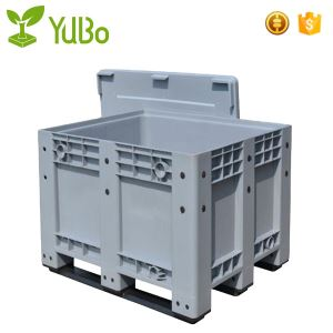1200*1000mm Solid Plastic Pallet Storage Bin with Lids, big plastic containers with lids manufacture