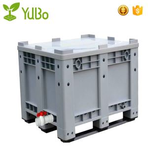 1200*1000mm 100% Virgin HDPE Vented Plastic Pallet Bin With Lids manufacture