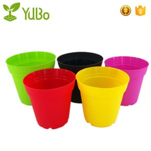 Large Coloured Plastic Plant Pots, Flower pot for Outdoors, large flower planter