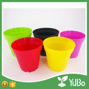 9.6cm Colorful Flower Pots in Gardens Grow Pots