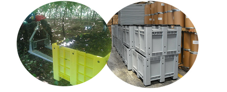 Large plastic crates