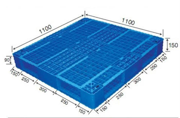 1000*1000mm Double Face Vented Top Plastic Pallets