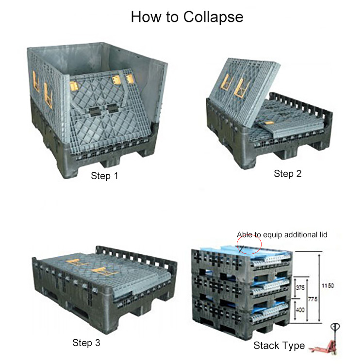 Collapsible Industrial Platic Pallets Create