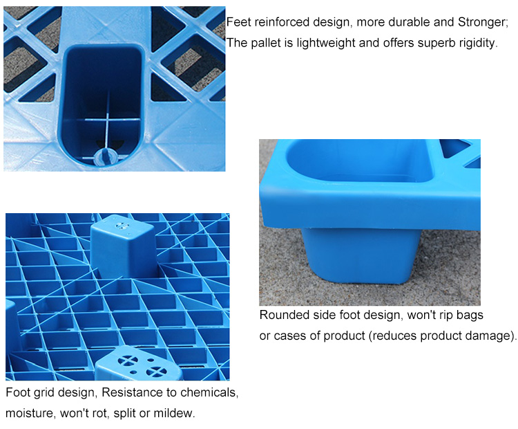 vented top plastic pallet