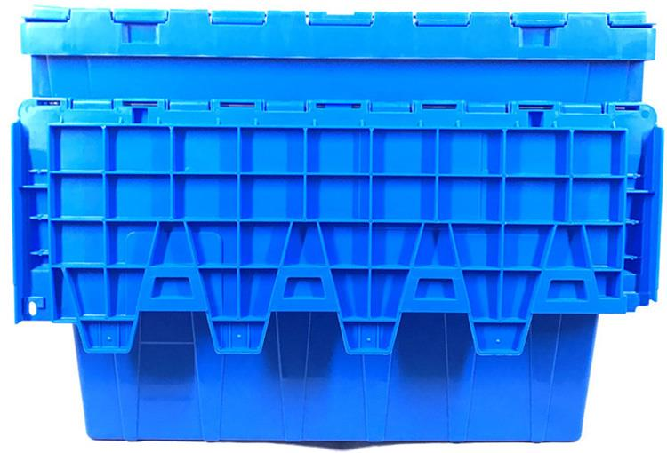 Attached Lid Plastic Turnover Boxes