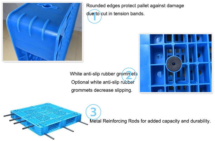 Vented Top Anti-Slip Strip HDPE Plastic Pallet For Lash extensions