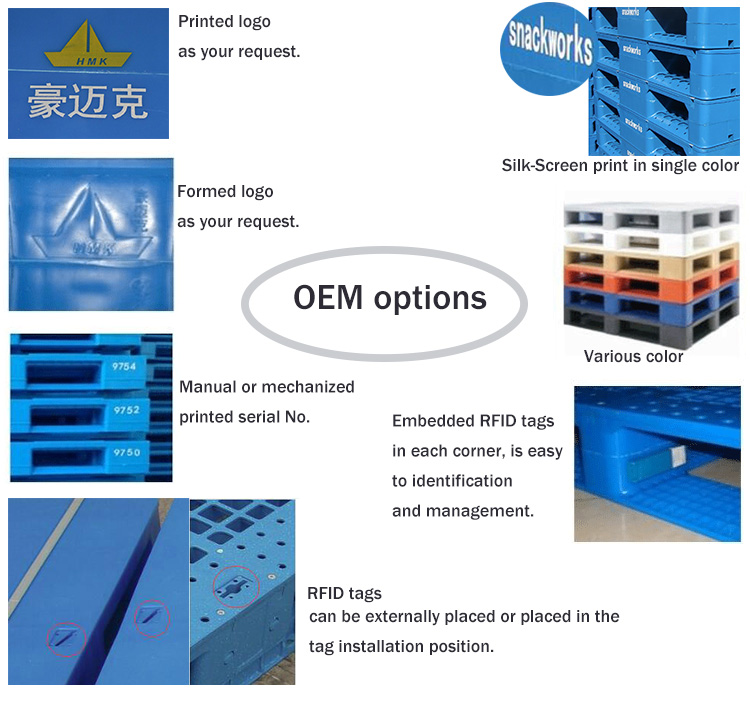 Anti-Slip Strip Euro Plastic Pallet