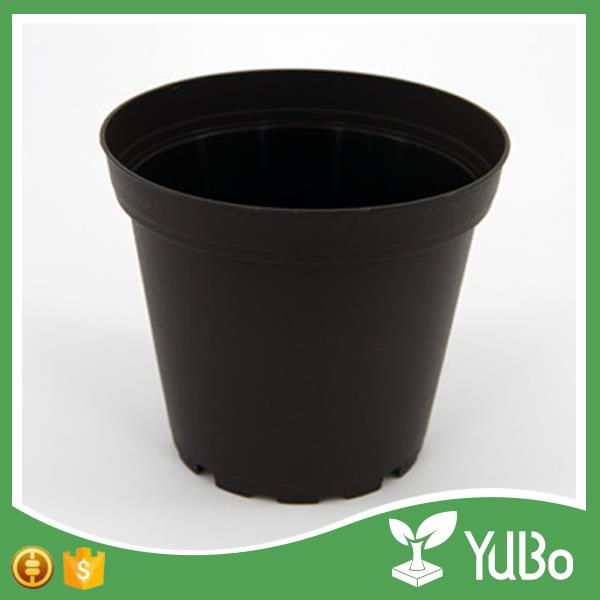 19cm Black Nursery Pots Large Plastic Flower Pot
