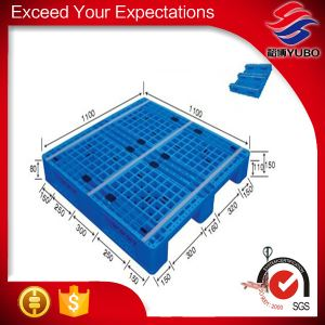 1200*1200mm Vented Top Single Face HDPE Specification Plastic Pallets stacking standard factory