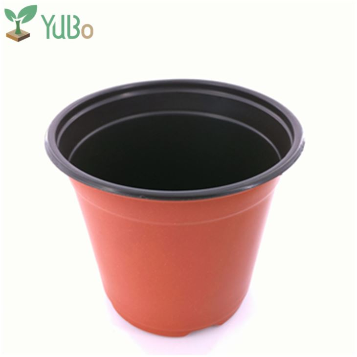 Plastic Top 16cm Plant Pots, Blow Mold Flower Pot For Outdoors