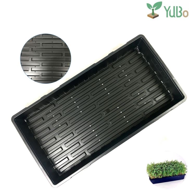 Greenhouse Plant Propagation Growing Flat Trays No Drain Holes Nursery Flats