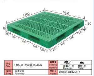1400*1400mm Doubel Face Steel Tubes Reinforced Plastic Pallets weight limit