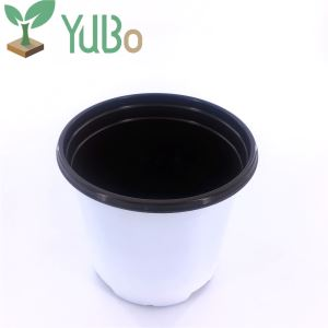 12cm White Plastic Flower Planter Boxes, Plant Pots Outdoor