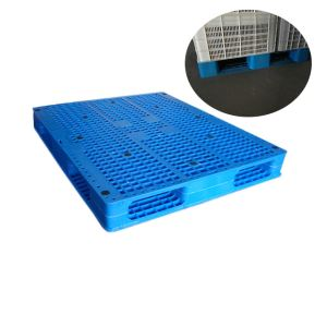 Double Faced Steel Reinforced Plastic Pallet For Storage